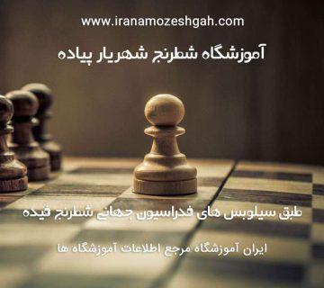 آموزشگاه شطرنج شهریار پیاده