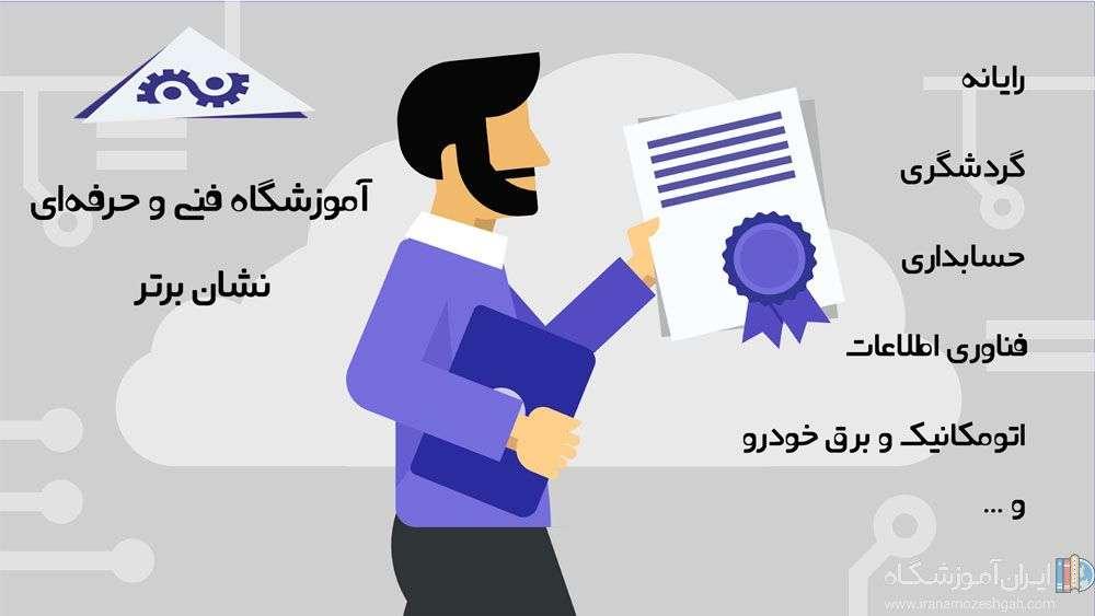 آموزشگاه فنی و حرفهای نشان برتر | ایران آموزشگاه مرجع آموزشگاه ها
