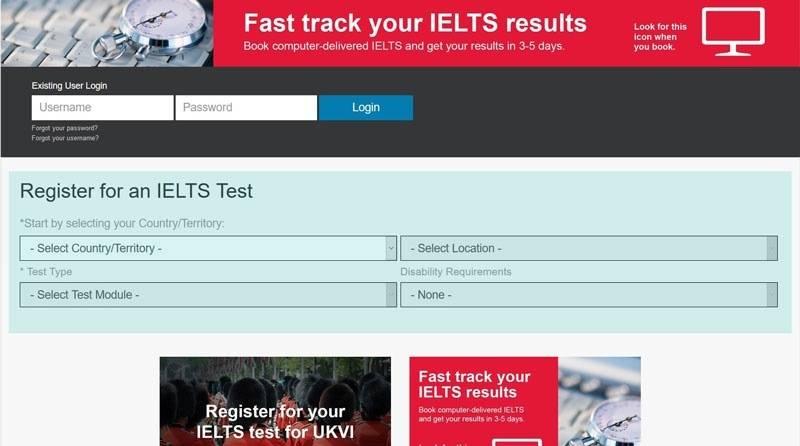 آموزش تصویری ثبت نام در آزمون زبان آیلتس